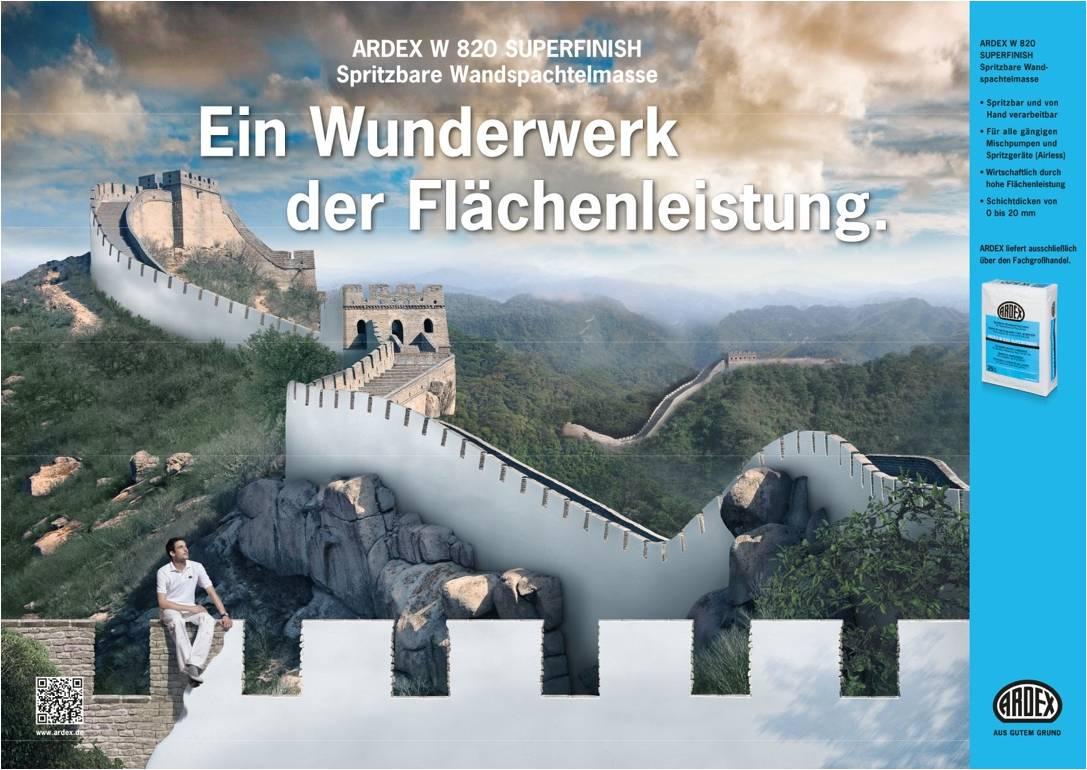 Ardex Produktanzeige: Chinesische Mauer - Uwe Groß (Konzept/Text)