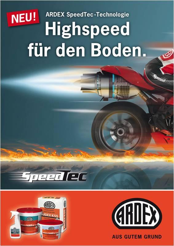 Ardex Produktanzeige: Rasendes Motorrad