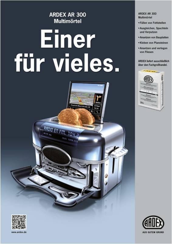 Ardex Produktanzeige: Multifunktionstoaster - Uwe Groß (Konzept/Text)