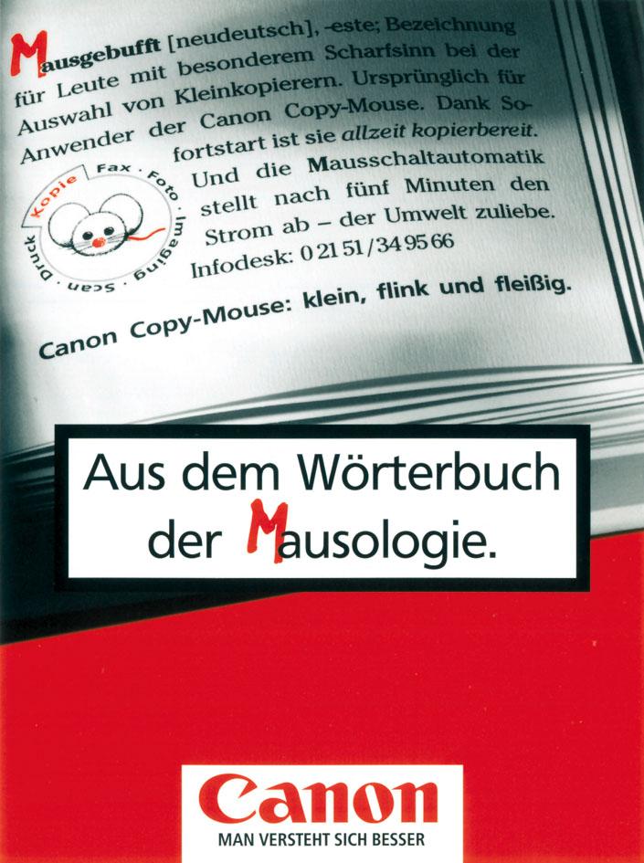 "Canon Produktanzeige: Wörterbuch der Mausologie ""Mausgebufft"""