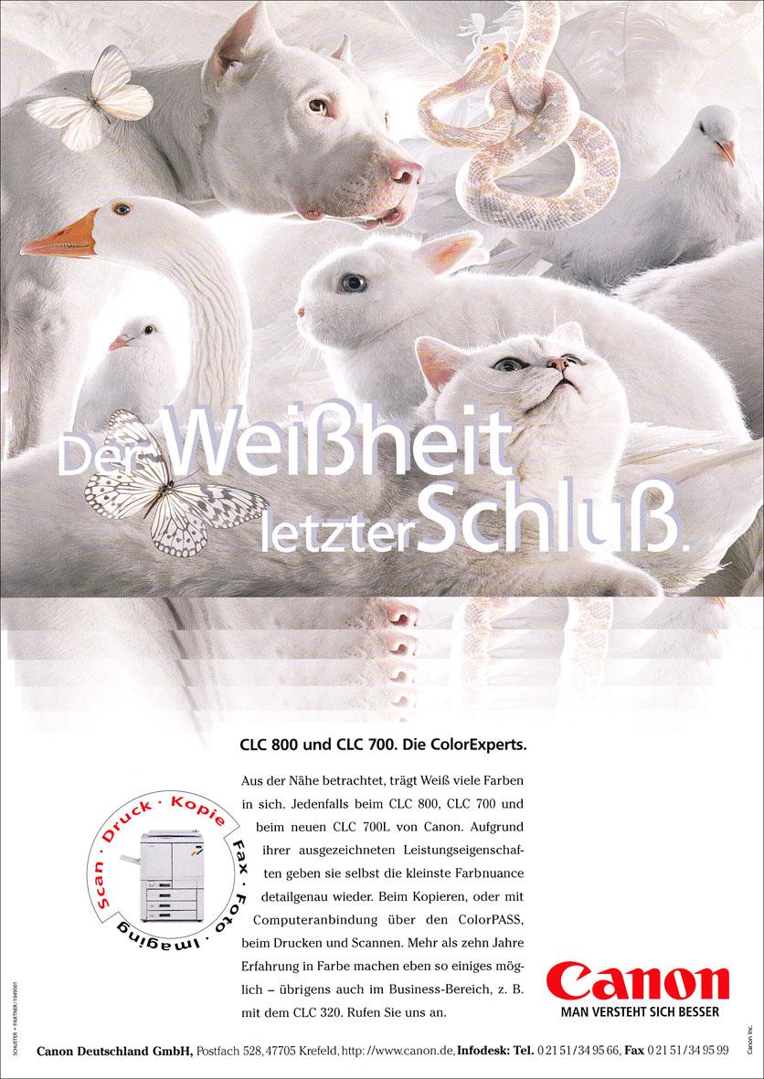 Canon Produktanzeige: Weiße Tierwelt