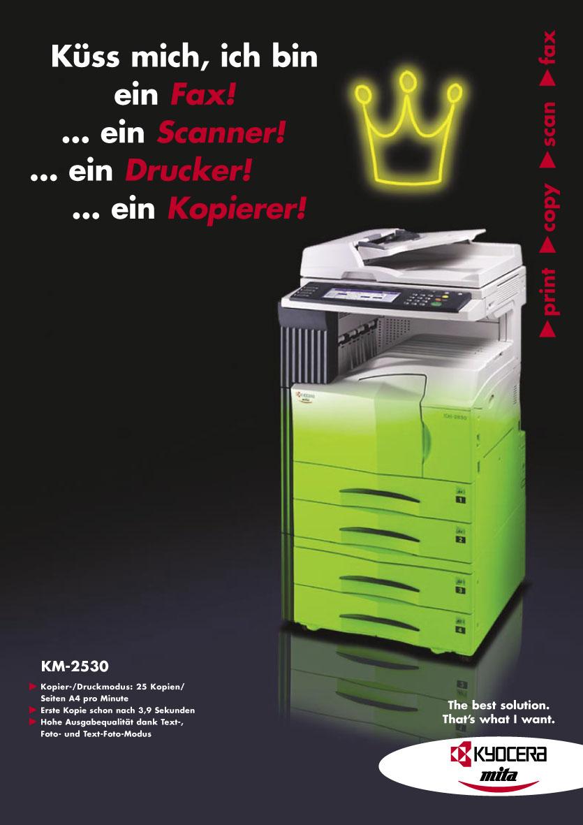 Kyocera Produktanzeige: Multifunktion - Uwe Groß (Konzept/Text)