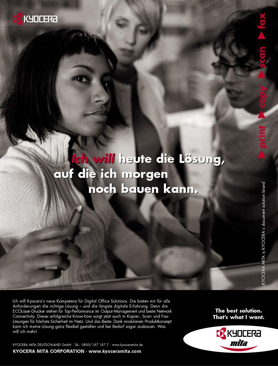Kyocera Imageanzeige: Zukunftssicherheit - Uwe Groß (Konzept/Text)