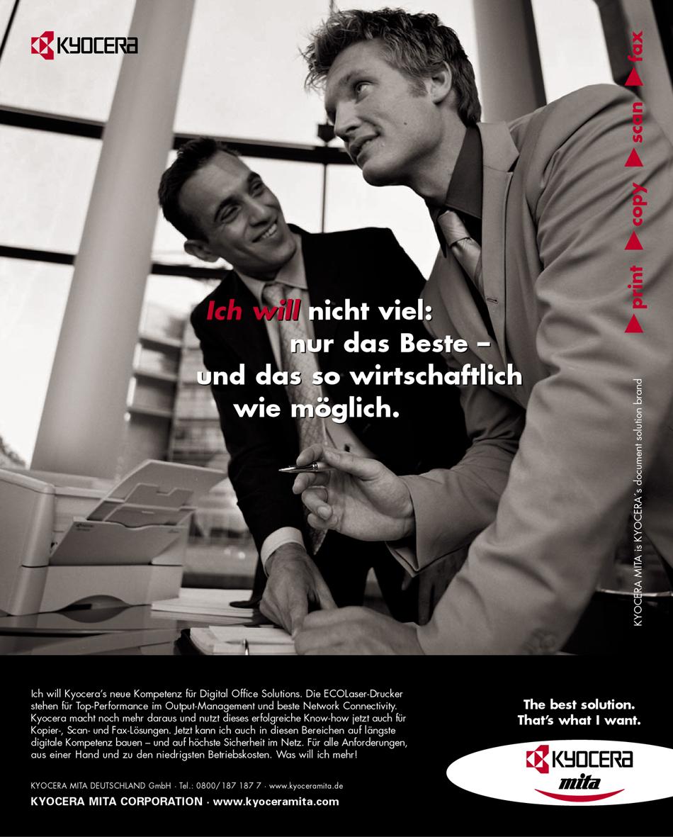 Kyocera Imageanzeige: Qualität - Uwe Groß (Konzept/Text)