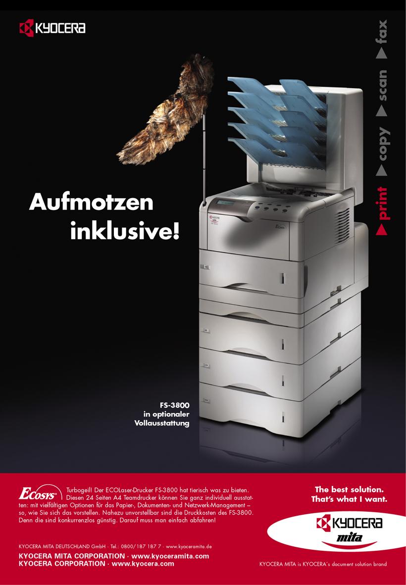 Kyocera Produktanzeige: Ausstattungsvielfalt - Uwe Groß (Konzept/Text)