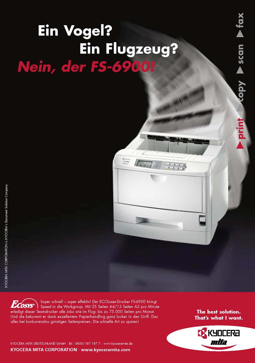Kyocera Produktanzeige: Schnelligkeit - Uwe Groß (Konzept/Text)