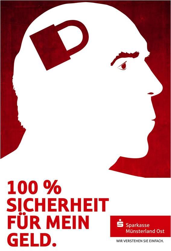 Sparkasse Imageanzeige: Sicherheit - Uwe Groß (Konzept/Text)