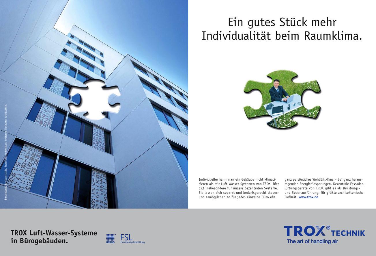 Trox Imageanzeige: Raumklima- Uwe Groß (Konzept/Text)