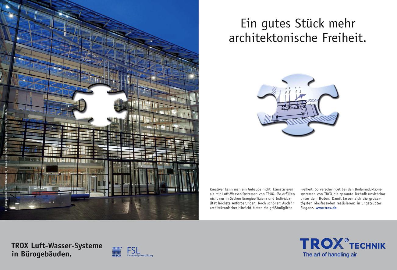 Trox Imageanzeige: Architektonische Freiheit - Uwe Groß (Konzept/Text)