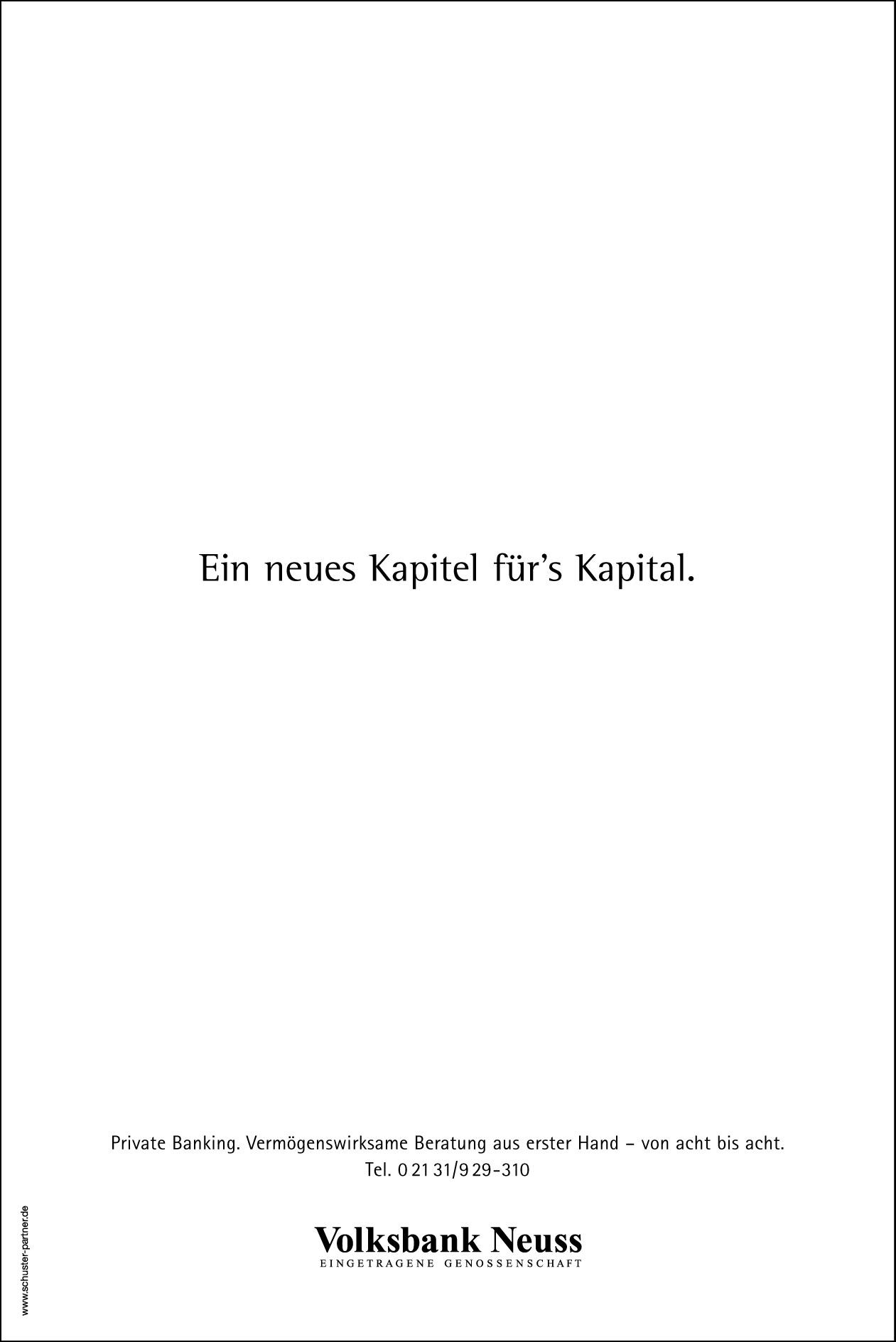 Volksbank Tageszeitungsanzeige: Textanzeige 4