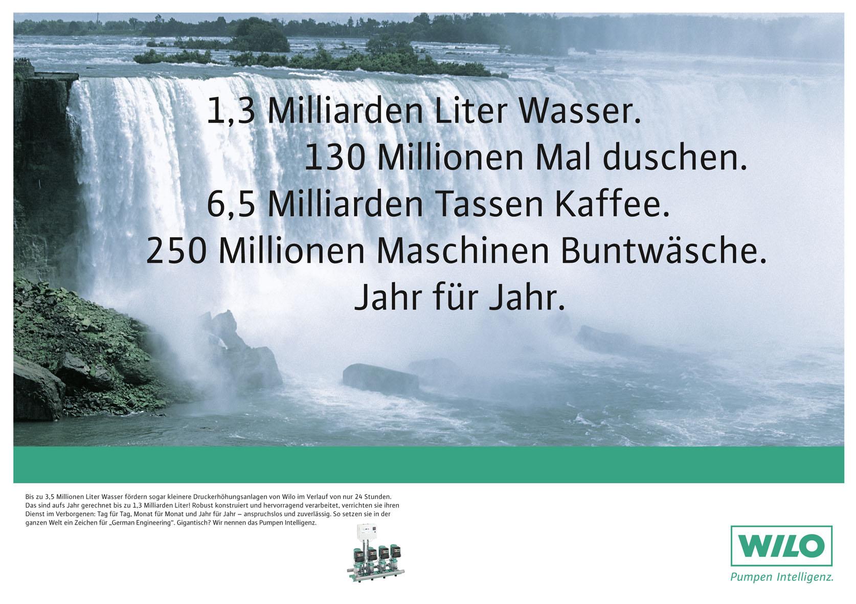 Wilo Imageanzeige: Hocheffizienz/Druckerhöhungspumpen - Uwe Groß (Konzept/Text)