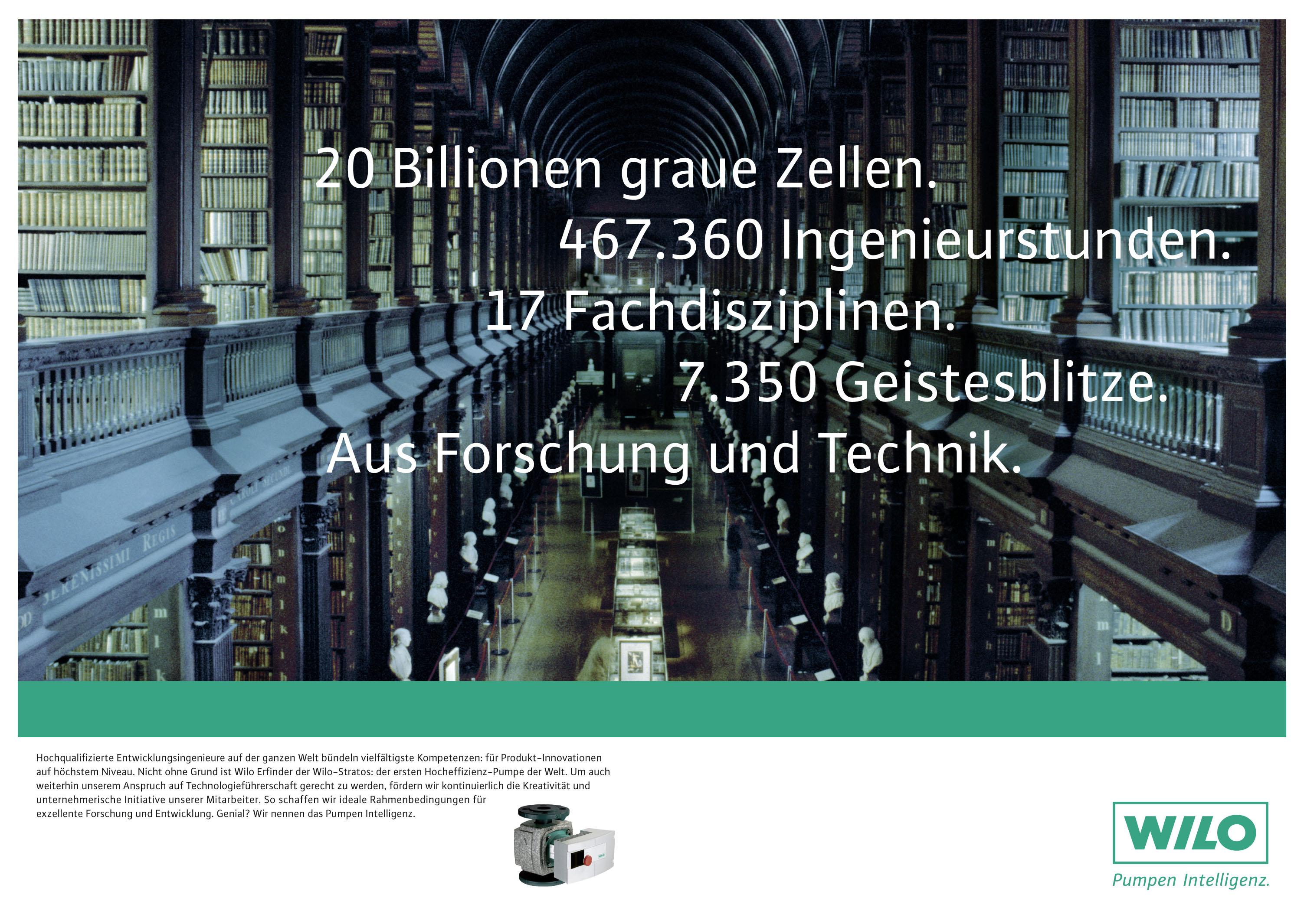 Wilo Imageanzeige: Hocheffizienz/Forschung und Entwicklung - Uwe Groß (Konzept/Text)