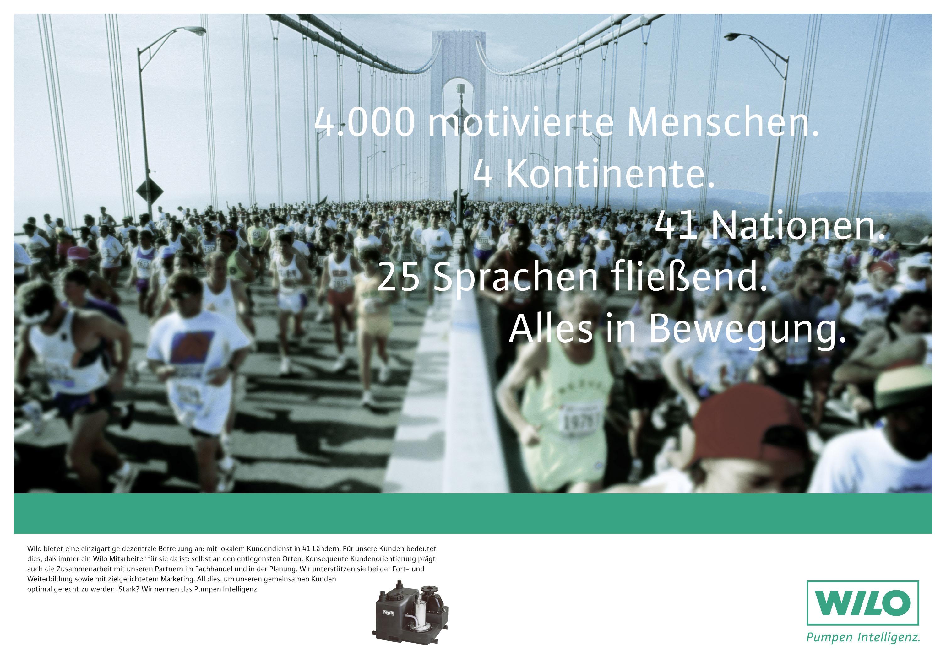 Wilo Imageanzeige: New York Marathon
